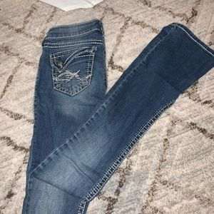 Silver Bootcut Jeans